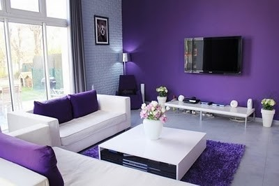 Purple-And-White-Contemporary-Living-Roo